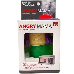 Angry Mama Green Steam Microwave Cleaner